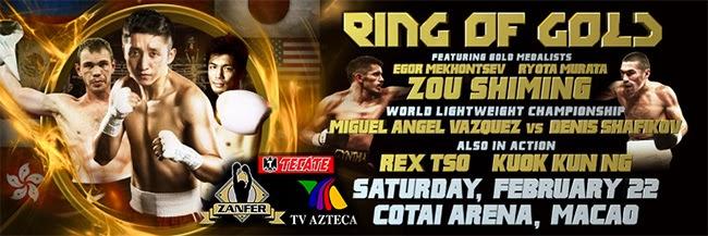La cartelera de Box Azteca Ring of Gold 2014