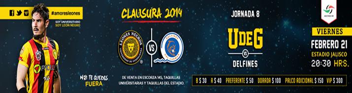 Universidad Guadalajara vs Delfines en Vivo – Ascenso MX 2014