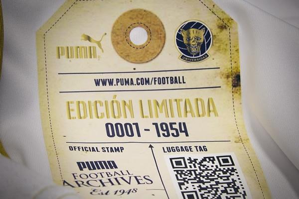 Camiseta conmemorativa del 60 aniversario de Pumas Detalles
