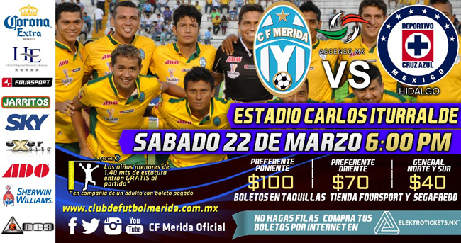 Mérida vs Cruz Azul Hidalgo en Vivo