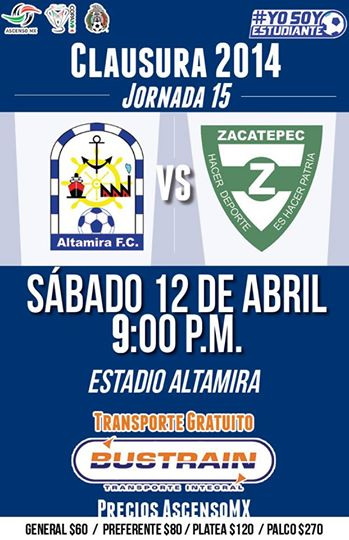 Altamira vs Zacatepec en Vivo