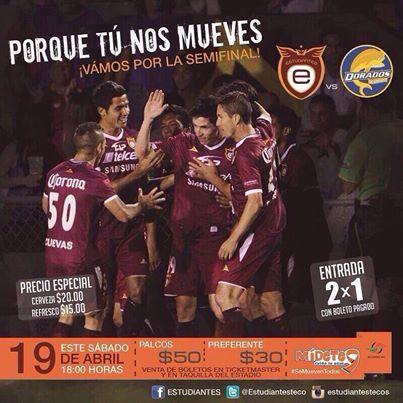 Estudiantes Tecos vs Dorados en Vivo - Liguilla 2014