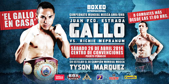 "Juan Francisco ""Gallo"" Estrada vs Richie Mepranum - Box Azteca en Vivo"