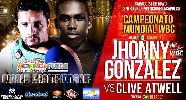 Jhonny González vs Clive Atwell en Vivo