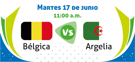 Bélgica vs Argelia - Mundial Brasil 2014