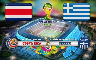 Costa Rica vs Grecia en Vivo 2014