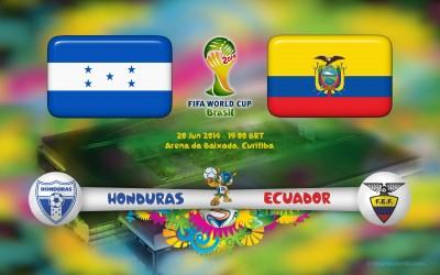 Honduras vs Ecuador en Vivo Brasil 2014