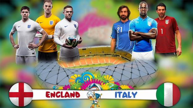 Inglaterra vs Italia en Vivo 2014