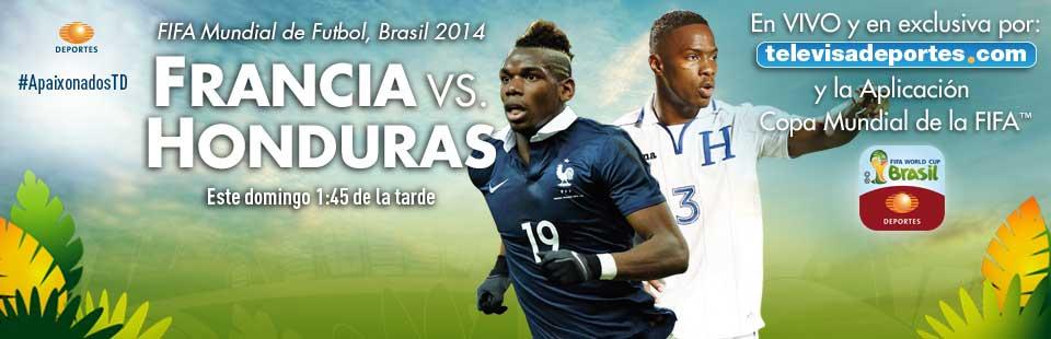 Partido en Vivo Francia vs Honduras