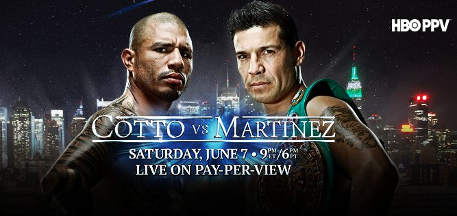 "Sergio ""Maravilla"" Martínez vs Miguel Cotto en Vivo HBO PPV"