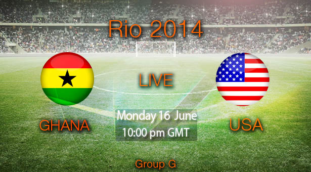 Ver Ghana vs Estados Unidos - Brasil 2014