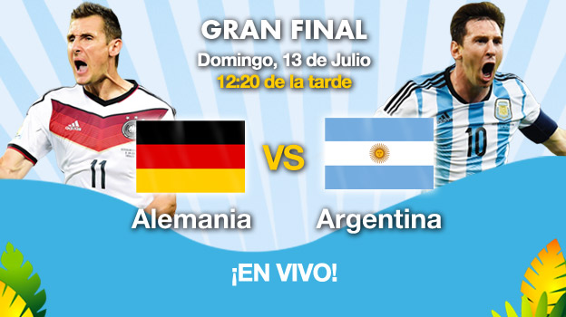 Alemania vs Argentina en Vivo 2014