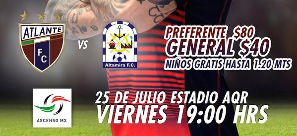 Atlante vs Altamira en Vivo – Ascenso MX 2014