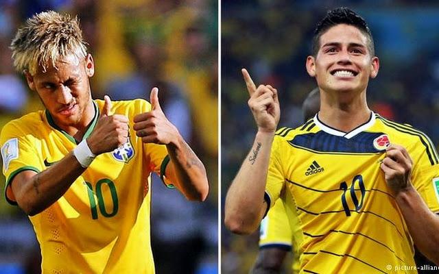 Brasil vs Colombia en Vivo 2014