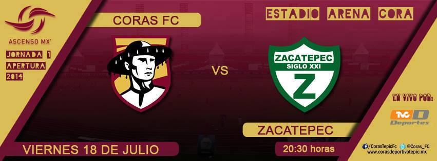 Coras Tepic vs Zacatepec en Vivo 2014