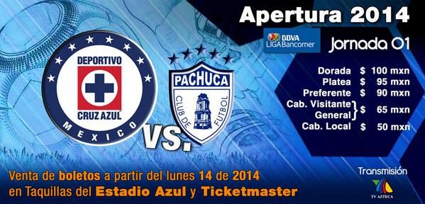 Cruz Azul vs Pachuca en Vivo 2014