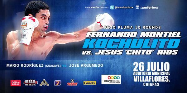 Fernando Montiel vs Jesús Ríos en Vivo – Box Azteca 2014