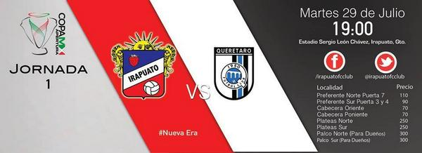 Irapuato vs Querétaro en Vivo 2014
