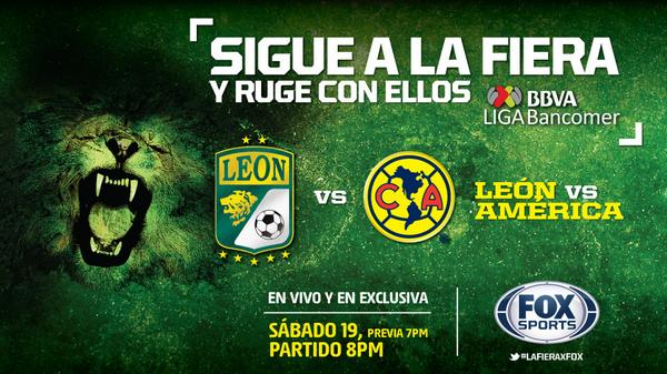 León vs América en Vivo Liga MX 19 Julio 2014