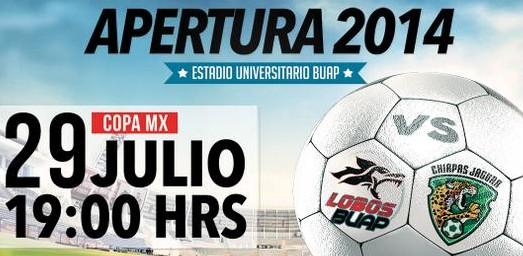 Lobos BUAP vs Chiapas en Vivo 2014