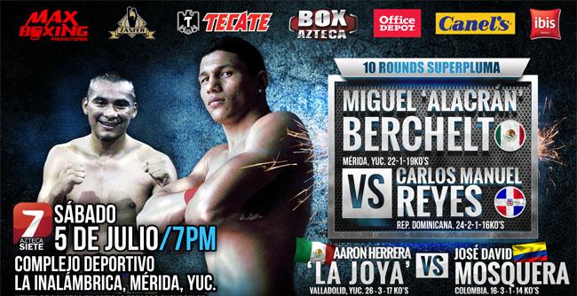 Miguel Berchelt vs Carlos Manuel Reyes en Vivo 2014
