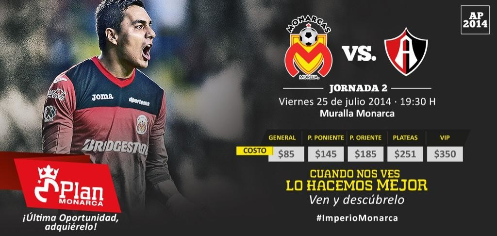 Morelia vs Atlas en Vivo 2014