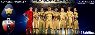 Pumas vs Atlante en Vivo Copa MX 2014