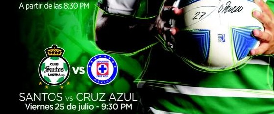 Santos vs Cruz Azul en Vivo 2014