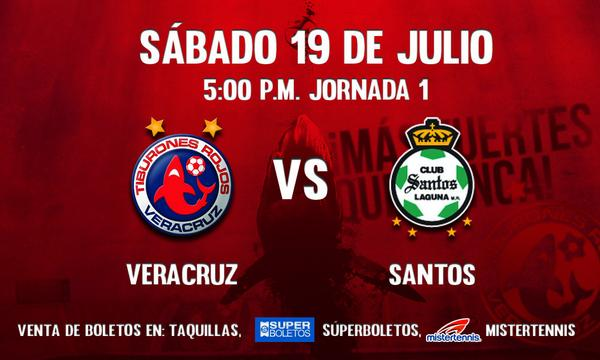Veracruz vs Santos en Vivo Liga MX 19 Julio 2014