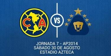 Ver América vs Pumas en Vivo Liga MX 2014