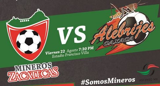 Mineros de Zacatecas vs Alebrijes en Vivo Ascenso MX 2014