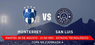 Monterrey vs San Luis en Vivo Copa MX 2014