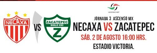 Necaxa vs Zacatepec en Vivo 2014