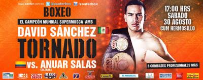 'Tornado' Sánchez vs Anuar Salas en Vivo 2014