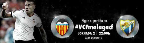 Valencia vs Málaga en Vivo 2014