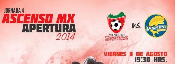 Zacatecas vs Dorados en Vivo – Ascenso MX 2014
