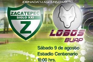 Zacatepec vs Lobos BUAP en Vivo Ascenso MX 2014