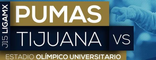 Resultado Pumas vs Tijuana en Vivo Jornada 15
