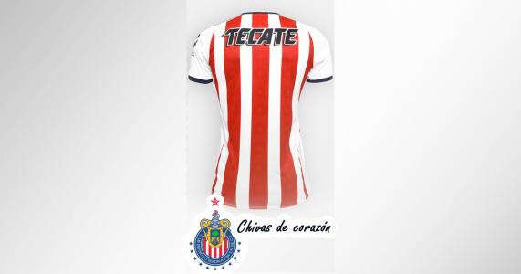 Playera chivas 2017 – 2018 con nombre y número